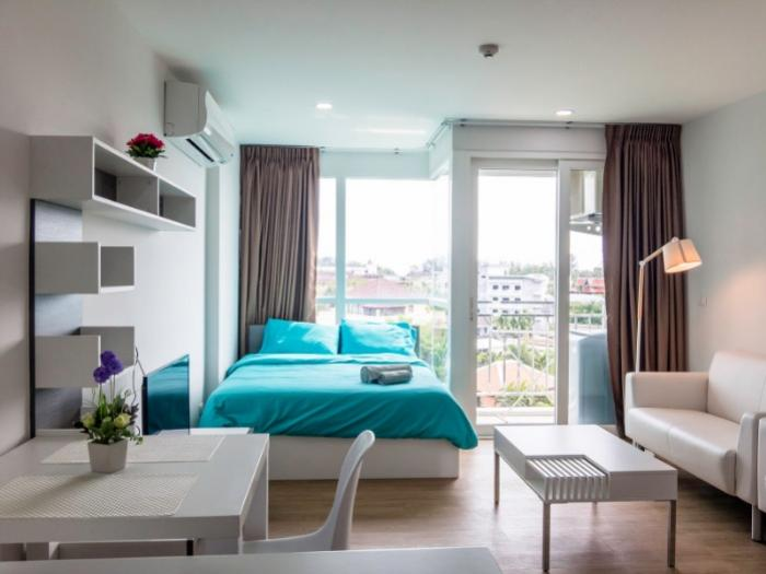 Aparment at Kata 2 Bed-1 - Living room and bedroom 1.jpg